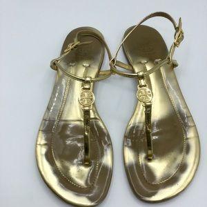 Tory Burch Gold Emmy Thong Sandals